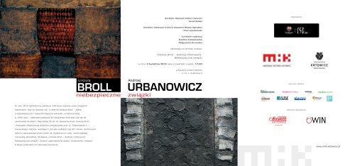 New_zaproszenie Niebezpieczne związki U. Broll - A. Urbanowicz